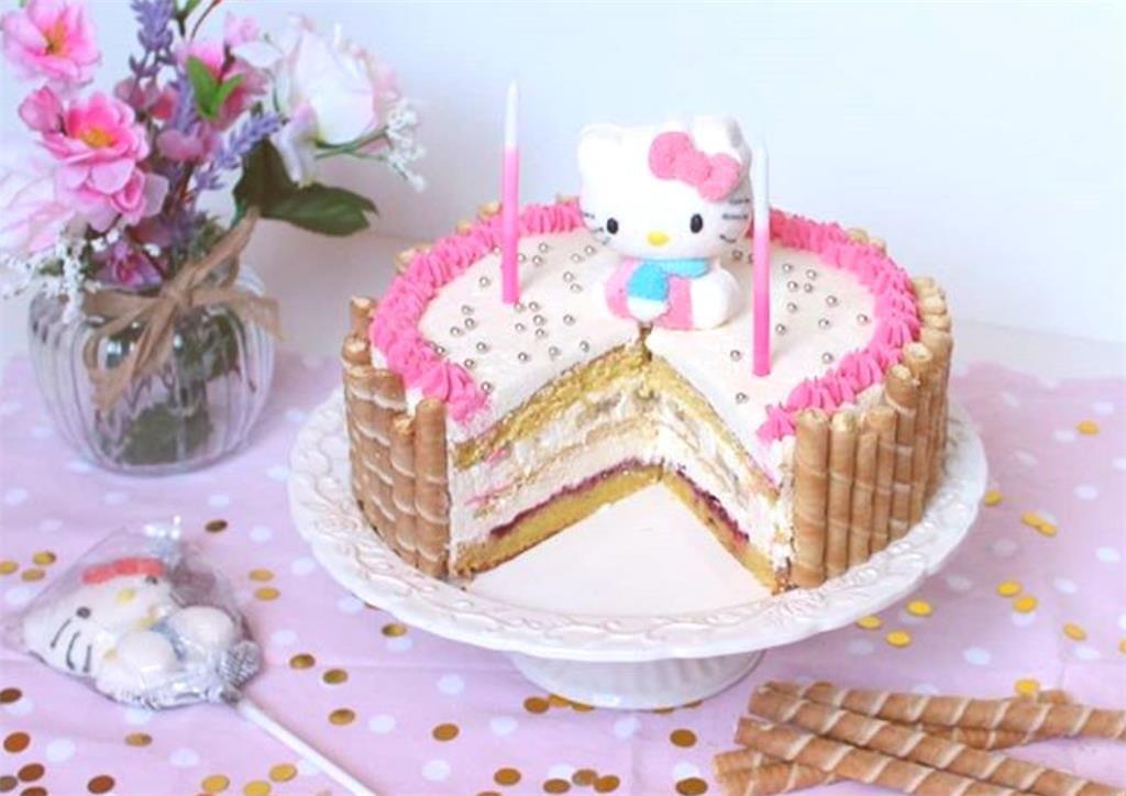 RECEPT: Hello Kitty torta