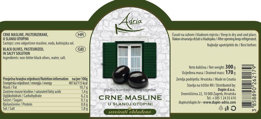 CRNE MASLINE - deklaracija