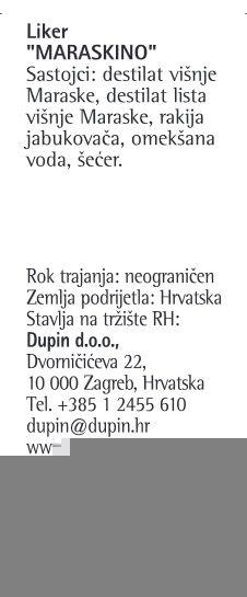 LIKER MARASKINO - deklaracija