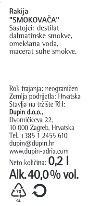 RAKIJA SMOKOVAČA - deklaracija