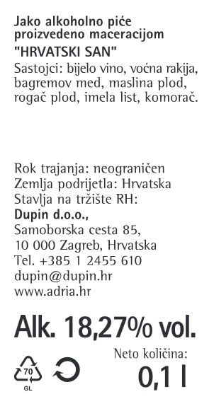 LIKER HRVATSKI SAN SPLIT - deklaracija