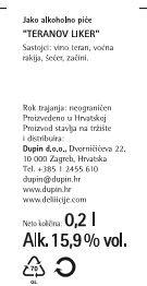 TERANOV LIKER - deklaracija
