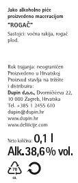 RAKIJA ROGAČ - deklaracija