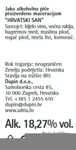 LIKER HRVATSKI SAN CROATIA - deklaracija