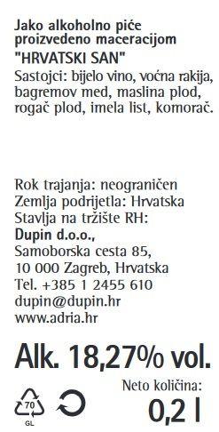 LIKER HRVATSKI SAN DUBROVNIK - deklaracija